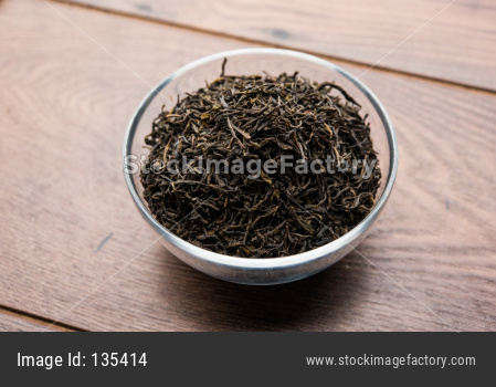 Black Tea Powder or dry dust used for making hot tea