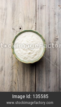 Curd or Dahi in a bowl