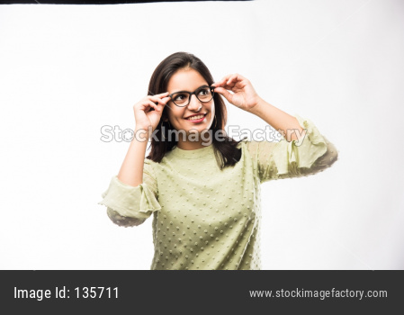 Girl wearing Spectacles or eye glasses