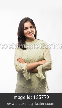 Girl with hands folded or crossed