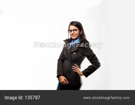 Girl with hands folded or crossed arms