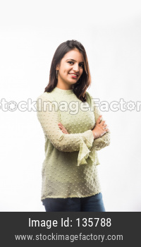 Girl with hands folded or crossed hands