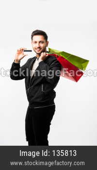 Indian/asian man with shopping bags