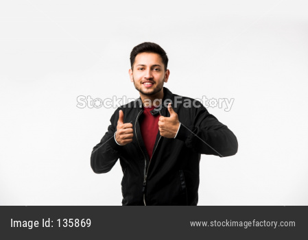 Man showing Thumbs or Ok Sign