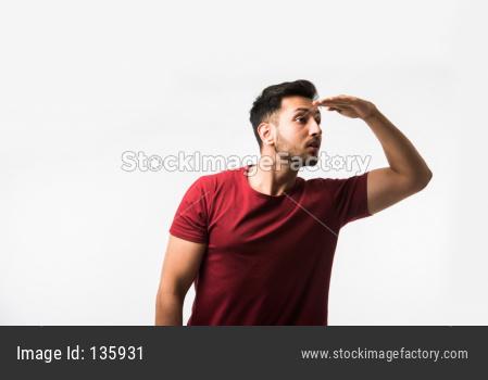 man looking too far