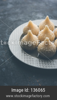 sweet coconut modak or Nariyal Modak
