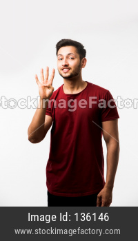 Indian/asian Man showing numbers with fingers