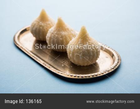 sweet coconut modak or Nariyal Modak