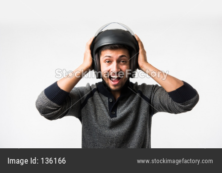 Man wearing Helmet