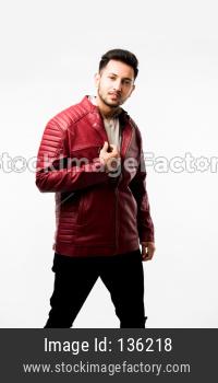 male fashion model wearing jacket