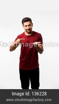 man holding or presenting something