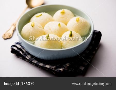 Rasgulla or Rosogulla dessert/sweet