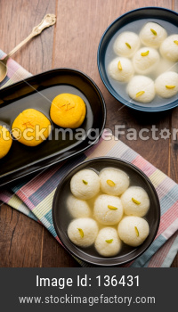 Sweet Rajbhog and Rasgulla or rosogolla