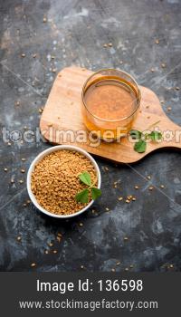 Fenugreek Seeds or Methi Dana drink
