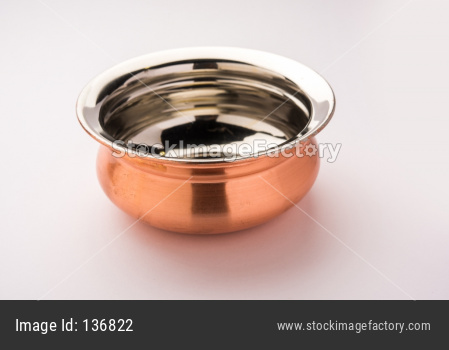 Copper handi / bowl for serving food
