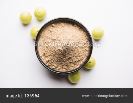 Amla powder with raw Avla, it's an Ayurvedic alternative medicine