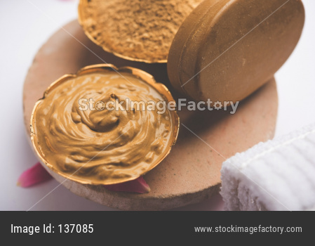 Ayurvedic face pack/mask includes Multani mitti, milk etc placed with Soap