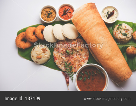 Group of South Indian food