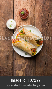 Indian Veg chapati Wrap / Kathi Roll