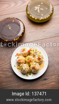 Dahi Puri chat food