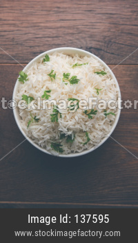 Coriander rice or cilantro Basmati Rice or fresh Dhaniya Rice