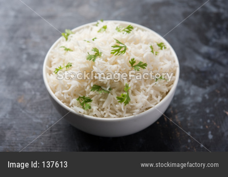 Coriander rice or cilantro Basmati Rice or fresh Dhaniya Rice