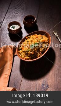 Indian Vegetable Pulav or Biryani
