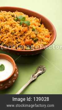 Indian Vegetable Pulav or Biryani