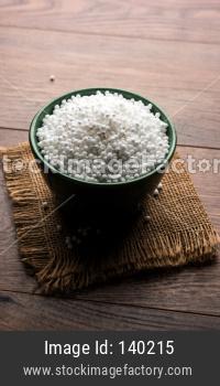 Sago or Sabudana in raw form