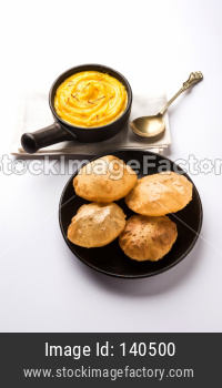 Amrakhand Poori OR Mango Shrikhand with puri