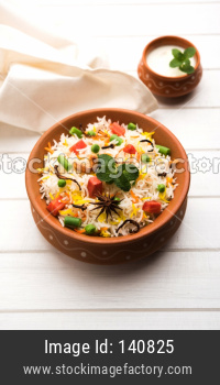 Vegetable Pulav or veg Biryani