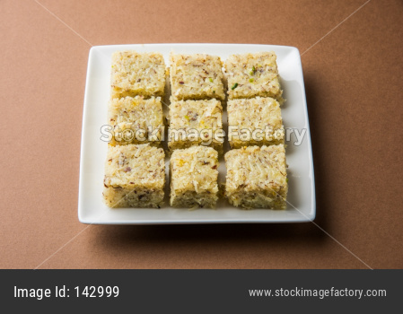 sweet coconut burfi