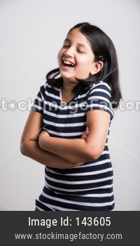 Cute little girl smiling/ laughing out loud