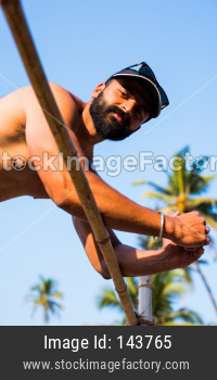 Indian Male Fitness Model at beach