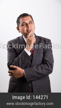 Indian handsome Businessman thinking