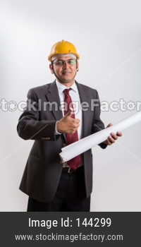 Indian handsome construction engineer / architect
