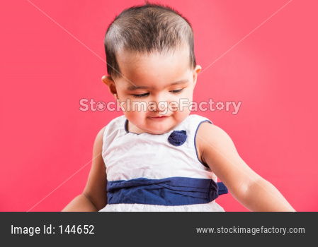 portrait of Small Indian Infant baby girl