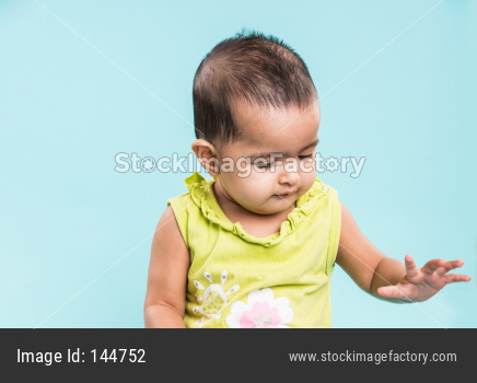 portrait of indian infant / baby girl