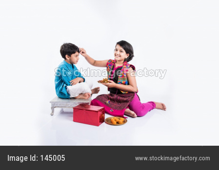 small brother and sister together Rakshabandhan Or Rakhi festival