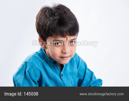 Indian little Boy in traditional wear