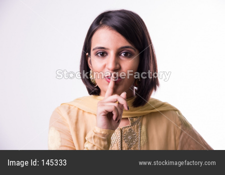 Indian young women / girl in traditional wear / salwar kameez