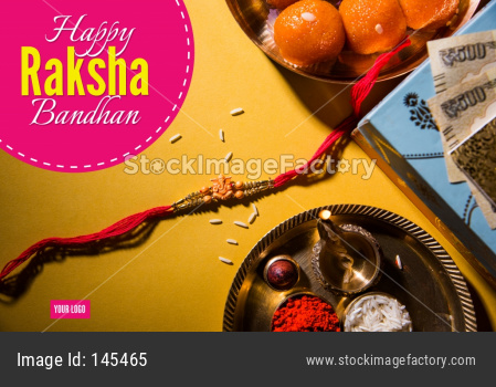 Happy Raksha Bandhan /Rakhi Greeting Card using Designer thread, Diya, Pooja Thali, Gift box, Indian Paper Currency notes and sw