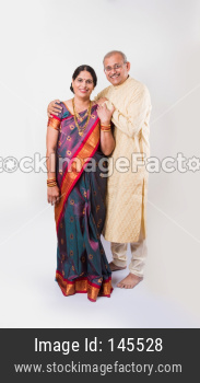 Indian couple in ethnic wear