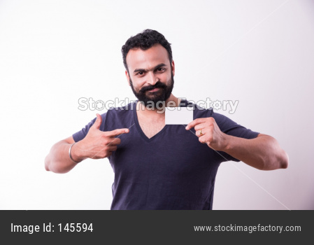 Indian Bearded young man