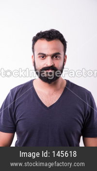 portrait of Indian Bearded young man