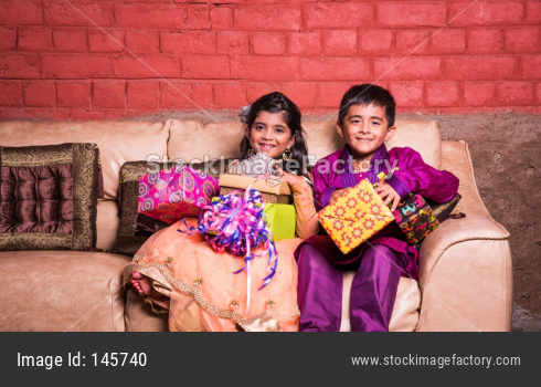 kids celebrating diwali or birthday