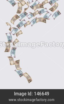 Indian New currency note of rupees 100 and 500 value