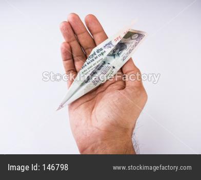Indian Currency plane / aeroplane / Airplane