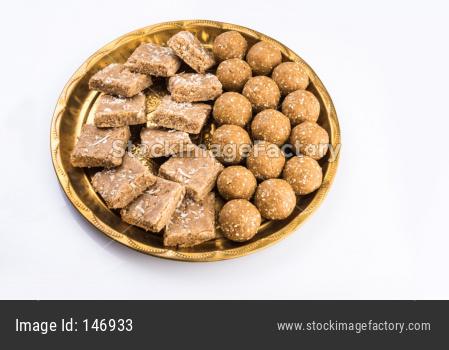 Tilgul / Til Gul laddu OR Sesame sweet ball and cake or Vadi