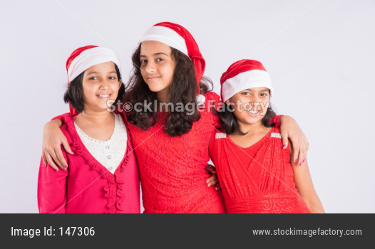 Indian Kids celebrating Christmas / X-mas